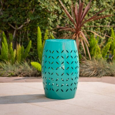 Patchen Iron Side Table Color: Teal