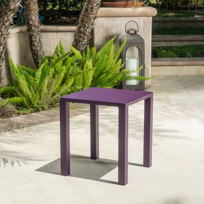 Fennia Outdoor Aluminum End Table Color: Purple