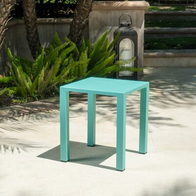 Fennia Outdoor Aluminum End Table Color: Teal