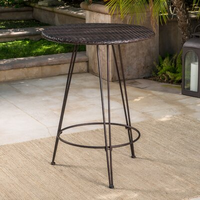 Preslar Outdoor Wicker Pub Table