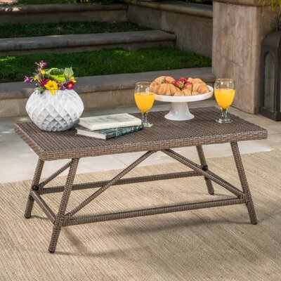 Fernald Outdoor Coffee Table Finish: Light Brown