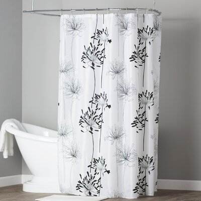 Brinckerhoff Shower Curtain Color: White and Black