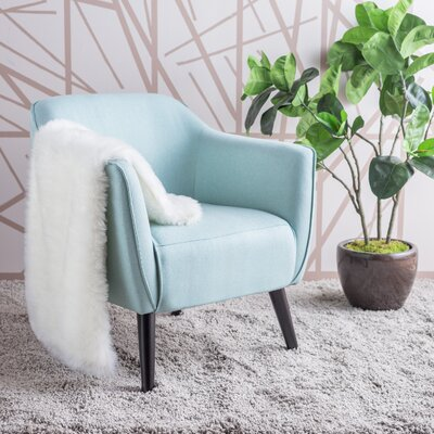 Aurianna Arm Chair Upholstery: Light Blue