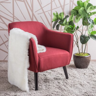 Aurianna Arm Chair Upholstery: Deep Red