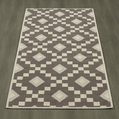 Heim Nature Cotton Diamond Trellis Brown/Beige Area Rug Rug Size: Runner 18 x 411