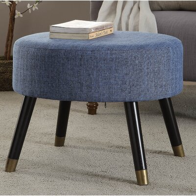 Moderna Mid-Century Cocktail Ottoman Upholstery: Blue
