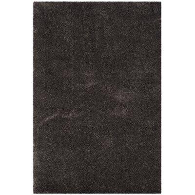 Hornell Dark Gray Area Rug Rug Size: Rectangle 53 x 76