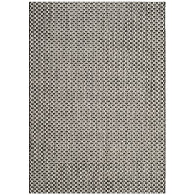 Jefferson Place Black/Light Gray Outdoor Area Rug Rug Size: Rectangle 4 x 57