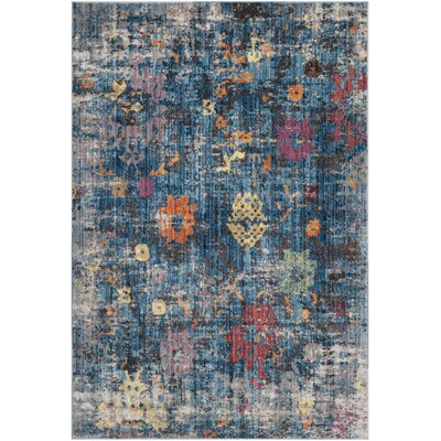 Vanalstyne Blue/Light Gray Area Rug Rug Size: Rectangle 51 x 76