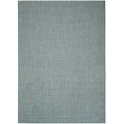 Jefferson Place Turquoise/Light Gray Outdoor Area Rug Rug Size: Rectangle 53 x 77