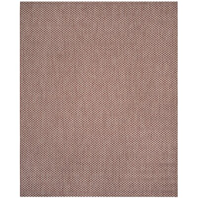 Jefferson Place Rust/Light Gray Outdoor Area Rug Rug Size: Rectangle 8 x 11