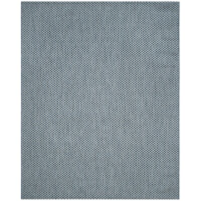 Jefferson Place Blue/Light Gray Outdoor Area Rug Color: Blue / Light Grey, Rug Size: Rectangle 8 x 11