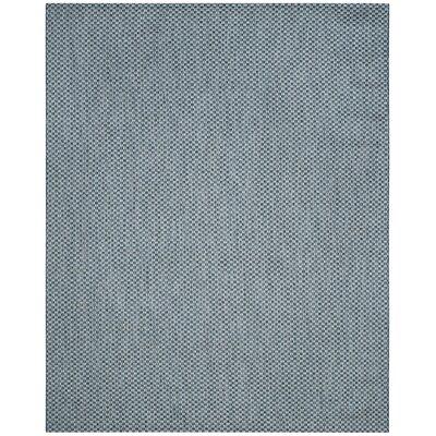 Jefferson Place Blue/Light Gray Outdoor Area Rug Color: Blue / Light Grey, Rug Size: Rectangle 8 x 11