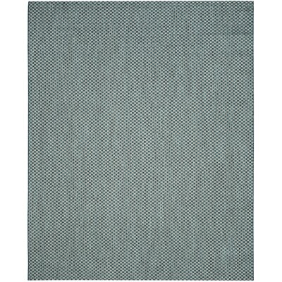 Jefferson Place Turquoise/Light Gray Outdoor Area Rug Rug Size: Rectangle 8 x 11