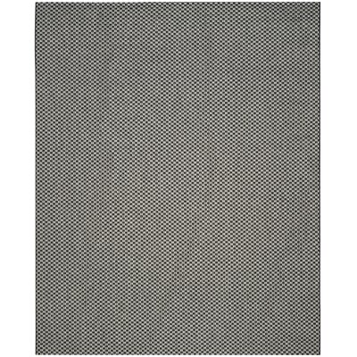 Jefferson Place Black/Light Gray Outdoor Area Rug Rug Size: Rectangle 8 x 11