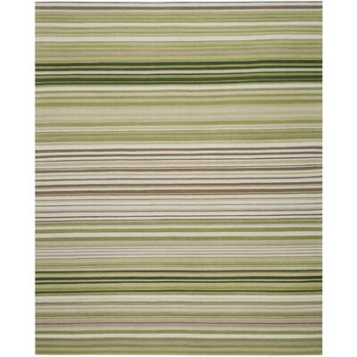 Jefferson Green Striped Contemporary Area Rug Rug Size: Rectangle 8 x 10