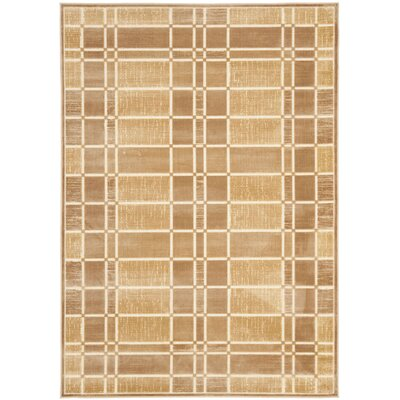 Scharff Taupe Area Rug Rug Size: Rectangle 53 x 76