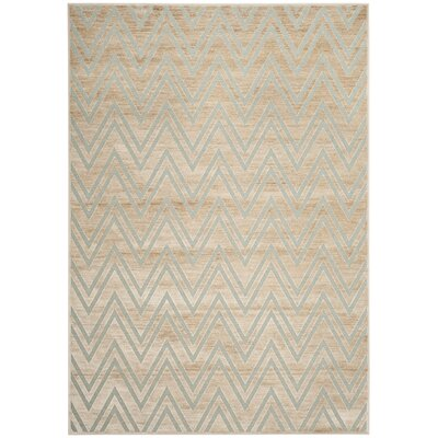 Scharff Taupe/Aqua Area Rug Rug Size: Rectangle 8 x 112