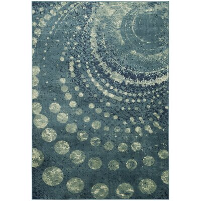 Stave Turquoise Area Rug Rug Size: Rectangle 53 x 76