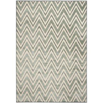 Scharff Hand-Tufted Gray/Cream Area Rug Rug Size: Rectangle 8 x 112