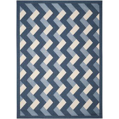 Holloway Navy/Beige Indoor/Outdoor Area Rug Rug Size: Rectangle 8 x 11