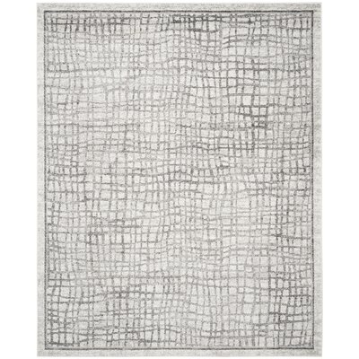 Schacher Silver/Ivory Area Rug Rug Size: Rectangle 8 x 10