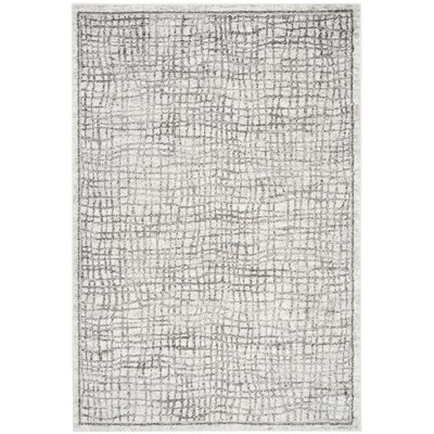 Schacher Silver/Ivory Area Rug Rug Size: Rectangle 51 x 76