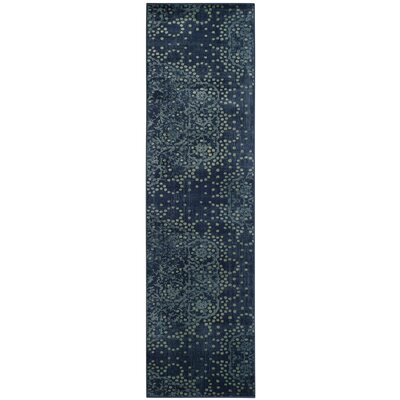 Stave Blue/Multi Area Rug Rug Size: Runner 22 x 8