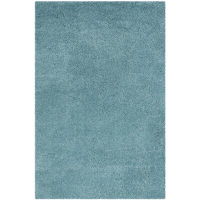 Hornell Power Loomed Blue Area Rug Rug Size: Rectangle 51 x 76