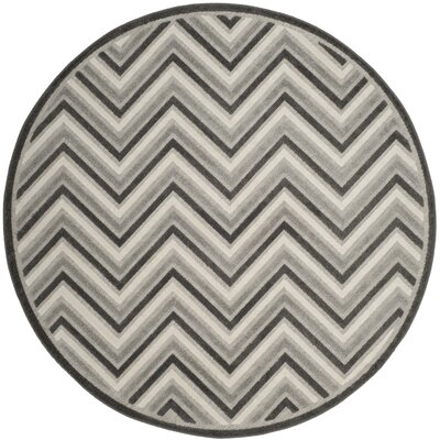 Schaefer Gray Outdoor Area Rug Rug Size: Round 67