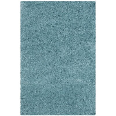 Hornell Power Loomed Blue Area Rug Rug Size: Rectangle 4 x 6