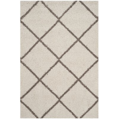 Elizabeth Street Ivory/Brown Area Rug Rug Size: Rectangle 51 x 76