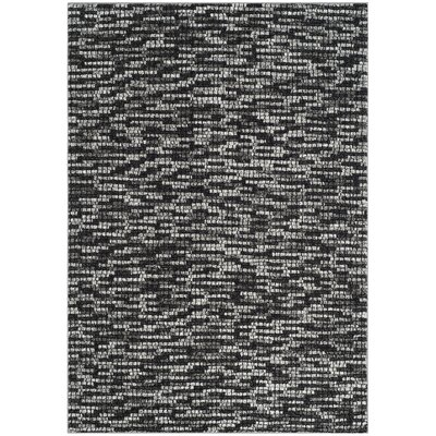 Sevastopol Light Gray/Charcoal Area Rug Rug Size: Rectangle 53 x 76