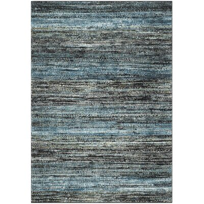 Sevastopol Charcoal/Blue Area Rug Rug Size: Rectangle 53 x 76