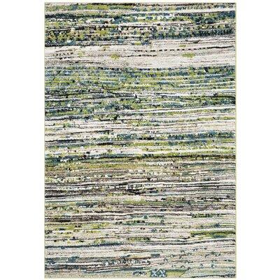 Sevastopol Cream/Green Area Rug Rug Size: Rectangle 53 x 76