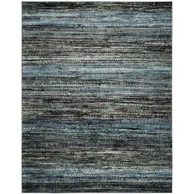 Sevastopol Charcoal/Blue Area Rug Rug Size: Rectangle 8 x 10