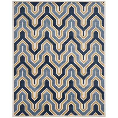 Seto Blue/Gold Indoor/Outdoor Area Rug Rug Size: Rectangle 8 x 10