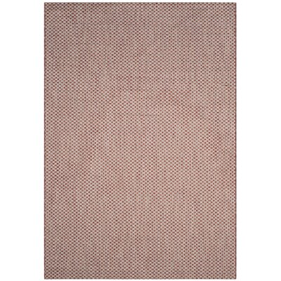 Jefferson Place Rust/Light Gray Outdoor Area Rug Rug Size: Rectangle 67 x 96