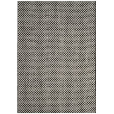 Jefferson Place Black/Light Gray Outdoor Area Rug Rug Size: Rectangle 53 x 77