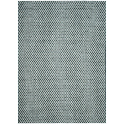 Jefferson Place Turquoise/Light Gray Outdoor Area Rug Rug Size: Rectangle 67 x 96