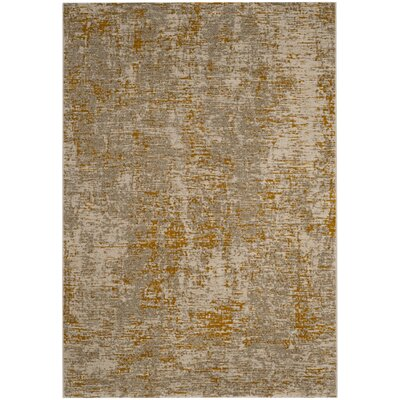 Sorrentino Gray/Orange Area Rug Rug Size: Rectangle 6 x 9