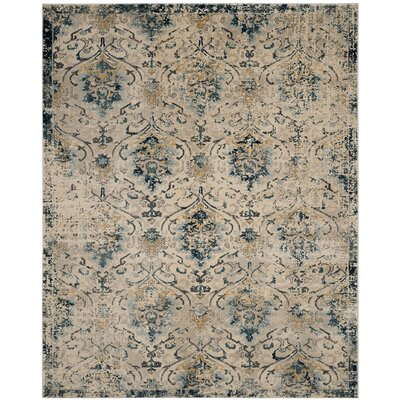 Sorrentino Gray/Orange Area Rug Rug Size: Rectangle 52 x 76
