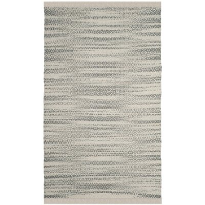 Redbrook  Hand-Tufted Gray/Ivory Area Rug Rug Size: Rectangle 5 x 8