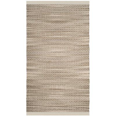Redbrook Hand-Tufted Beige/Ivory Area Rug Rug Size: Rectangle 5 x 8