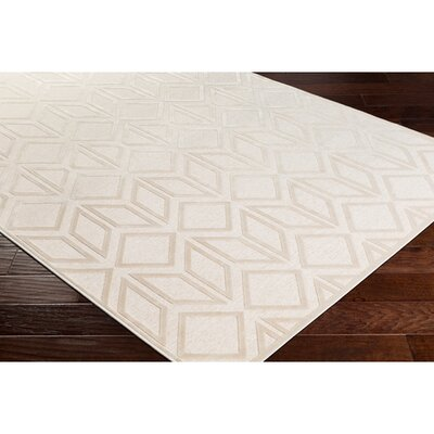 Pugh Modern Geometric Beige Area Rug Rug Size: Rectangle 52 x 76