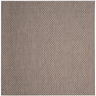 Jefferson Place Light Brown/Light Gray Outdoor Area Rug Rug Size: Square 67