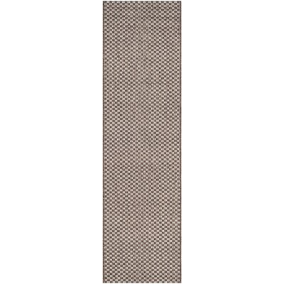 Jefferson Place Light Brown/Light Gray Outdoor Area Rug Rug Size: Runner 23 x 8