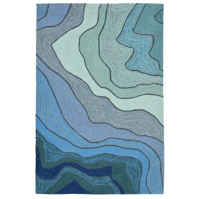 Vandenbosch Hand-Tufted Blue Indoor/Outdoor Area Rug Rug Size: 36 x 56