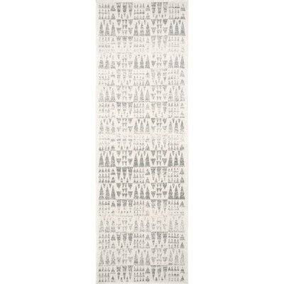Pottorff Gray Area Rug Rug Size: Runner 28 x 8