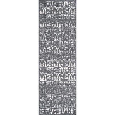 Potvin Dark Gray Area Rug Rug Size: Runner 28 x 8